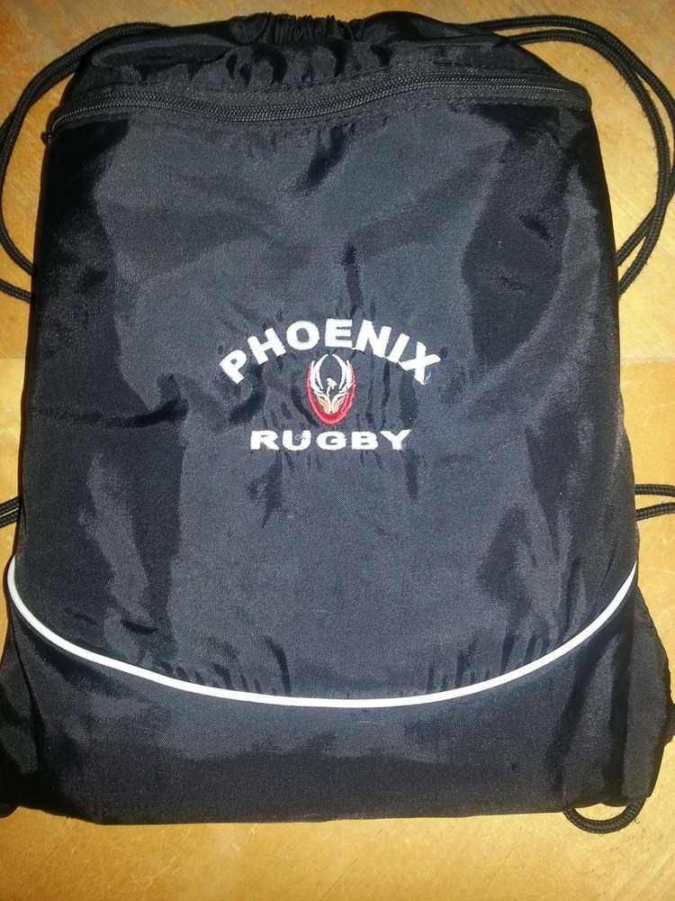 Phoenix Embroidered Drawstring Backpack