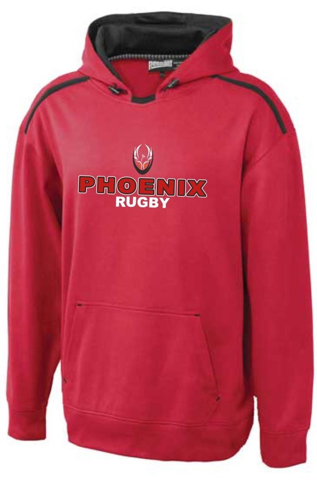 Phoenix Embroider Dri-Fit Red Hoodie